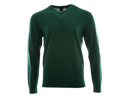 New Mens Dunning Golf Player Merino V-Neck Sweater Large L Green MSRP $125 D7F12S149