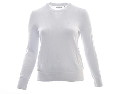 New Womens Adidas Golf Crew Sweater X-Large XL White MSRP $90