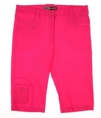New Womens Jamie Sadock Golf Knee Capris Size 6 Enchantress MSRP $110