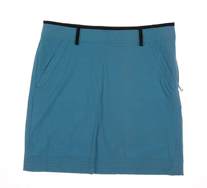 New Womens Ralph Lauren Golf Stitch Design Wicking Skort Size 8 Blue MSRP $125