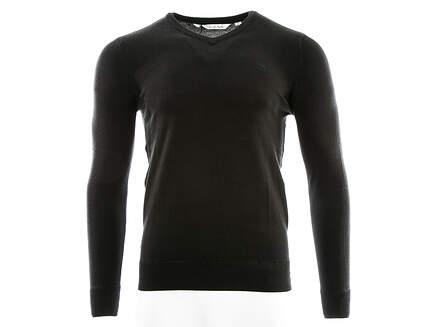 New Mens Travis Mathew Golf Stone Sweater Small S Black MSRP $115
