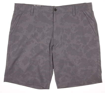 New Mens Under Armour Golf Punch Shot Rover Shorts Size 40 Gray MSRP $75
