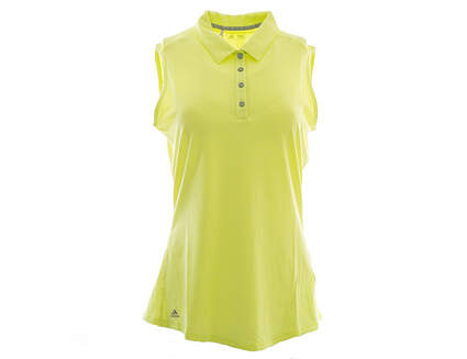 New Womens Adidas Golf Climalite Heather Sleeveless Polo Medium M Green MSRP $50 AE5217