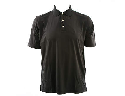 New Mens Peter Millar Golf Solid Stretch Jersey Polo X-Large XL Black MSRP $79