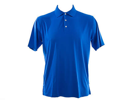 New Mens Peter Millar Solid Stretch Jersey Polo X-Large XL Blue MSRP $80