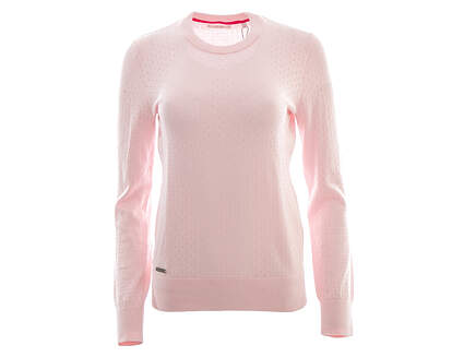 New Womens Adidas Golf Crew Sweater Small S Pink MSRP $90