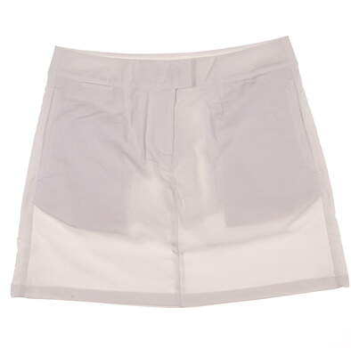 New Womens Puma Golf dryCELL Solid Tech Skort Size 8 White MSRP $65 568369 02