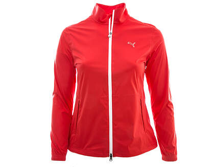 New Womens Puma Golf Storm Force 2 Rain Jacket Large L Pink MSRP $150 568671 03