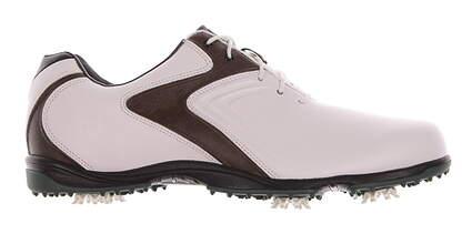 New Mens Golf Shoe Footjoy HydroLite Medium 9.5 White/Brown MSRP $120 50024