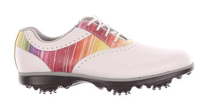 New Womens Golf Shoe Footjoy eMerge Medium 9.5 White / Multi MSRP $90 93901