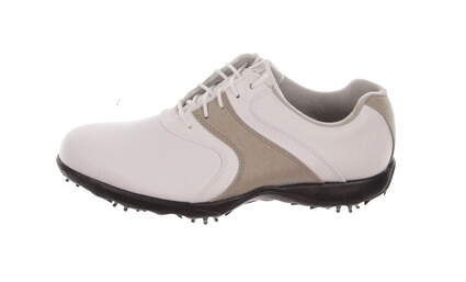New Womens Golf Shoe Footjoy FJ Superlites Medium 7.5 White / Tan MSRP $105 98803