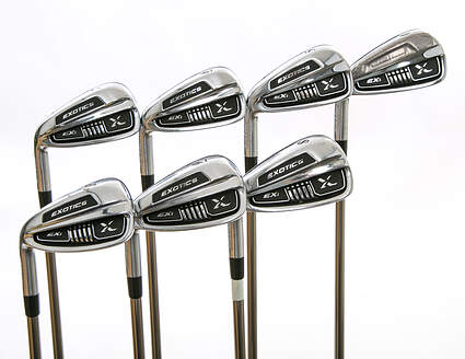 Tour Edge Exotics EXi Iron Set 4-PW UST Mamiya Recoil 460 F3 Graphite Regular Left Handed 38 in