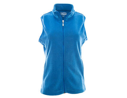 New Womens Straight Down Golf Vest Small S Blue MSRP $60