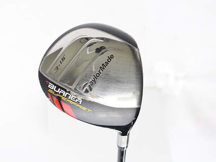 TaylorMade Burner Superfast Fairway Wood 3 Wood 3W 15* TM Matrix Ozik Xcon 4.8 Graphite Regular Right Handed 43.5 in