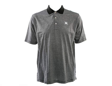New W/ Logo Mens Peter Millar Golf Sumter Stripe Polo X-Large XL Black MSRP $95 MS15K03
