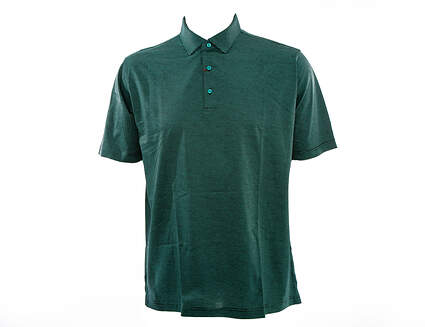 New W/ Logo Mens Peter Millar Golf Finch's Stripe Lisle Polo X-Large XL Multi (Black / Green) MSRP $95 MF15K04S