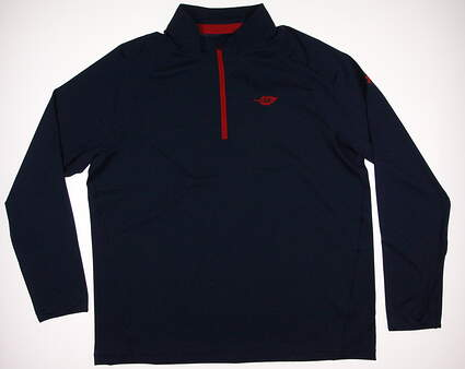 New W/ Logo Mens Under Armour Golf 1/2 Zip Pullover XX-Large XXL Blue MSRP $80