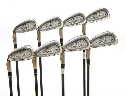 Cobra Gravity Back Iron Set 3-PW Stock Graphite Shaft Graphite Stiff Left Handed 38 in
