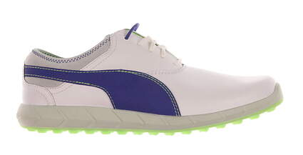 New Mens Golf Shoe Puma Ignite Spikeless 11 White/ Blue/Green MSRP $120 188679