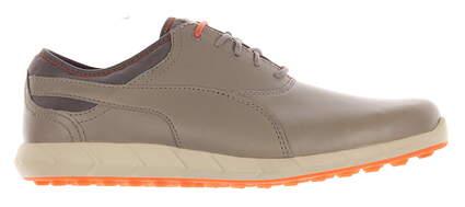 New Mens Golf Shoe Puma Ignite Spikeless 9.5 Gray / Orange MSRP $120 188663