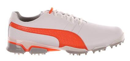 New Mens Golf Shoe Puma Titantour Ignite 10.5 White / Orange / Gray MSRP $180 188656