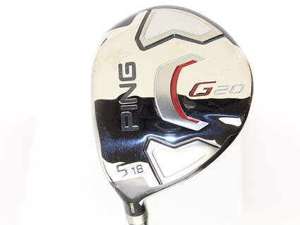 Ping G20 Fairway Wood 5 Wood 5W 18* Ping TFC 169F Graphite Stiff Left Handed 42.5 in