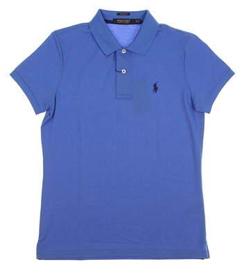 New Womens Ralph Lauren Tailored Fit Golf Polo Medium M Blue MSRP $90