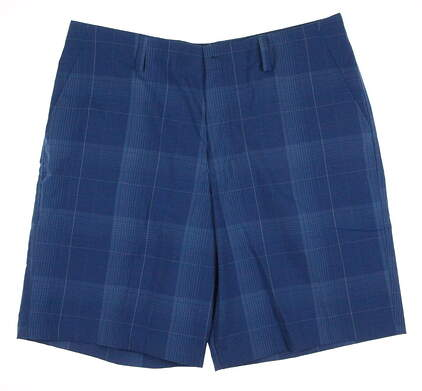 New Mens Under Armour Golf Loose Patterned Shorts Size 36 Blue MSRP $65 541623