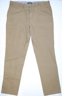 New Mens Peter Millar Golf Raleigh Washed Twill Pants Size 42x36 Khaki MSRP $125 MC00B84