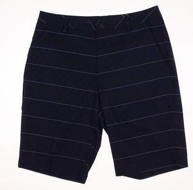 New Mens Puma Plaid Golf Shorts Size 32 True Blue MSRP $75