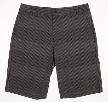 New Mens Puma Pattern Golf Shorts Size 32 Quarry/Vibrant Orange MSRP $75