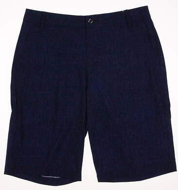 New Mens Puma Texture Print Golf Shorts Size 32 Peacoat MSRP $60