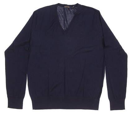 New Womens Ralph Lauren Golf Sweater Large L Navy Blue MSRP $125