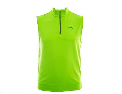 New W/ Logo Mens Dunning 1/4 Vest Large L Green MSRP $106