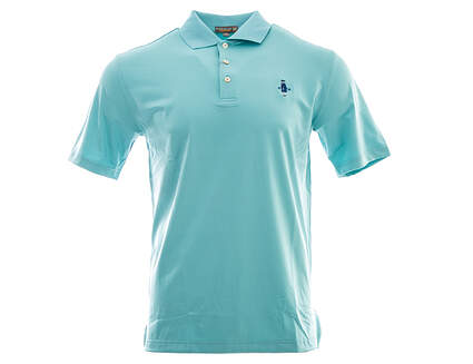 New W/ Logo Mens Peter Millar Golf Polo Small S Blue MSRP $85