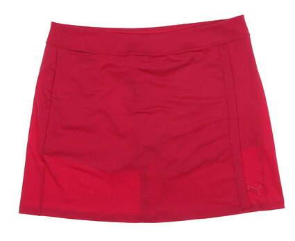 New Womens Puma Solid Knit Skort Size Large L Raspberry MSRP $60