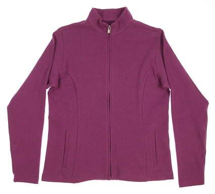 New Womens Peter Millar Golf Full Zip Mock Neck Medium M Purple MSRP $119.50