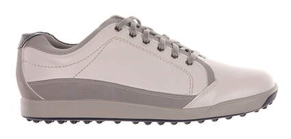 New Mens Golf Shoe Footjoy Contour Casual Medium 8.5 White/Grey MSRP $140 54204