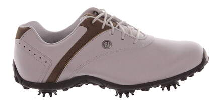 New Womens Golf Shoe Footjoy LoPro Collection Medium 8 White/Brown MSRP $110 97173