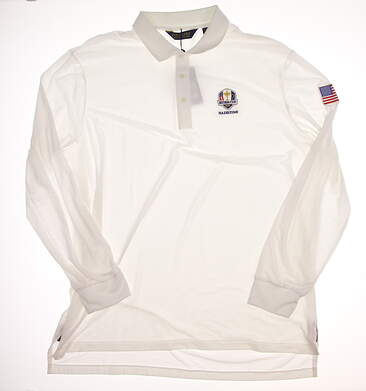 New Mens Ralph Lauren Polo Golf Long Sleeve Polo Ryder Cup XX-Large XXL White MSRP $98