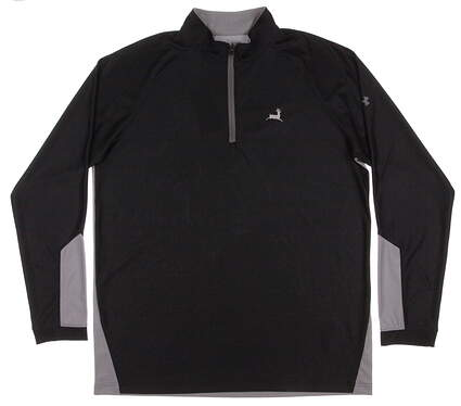 New W/ Logo Mens Under Armour Golf Loft 1/4 Zip Pullover X-Large XL Black / Gray MSRP $66 UM7185