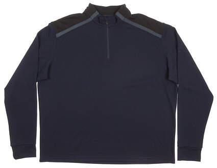 New Mens Mizuno Golf WarmaLite Shiki 1/4 Zip Pullover XX-Large XXL Navy Blue MSRP $125 250178