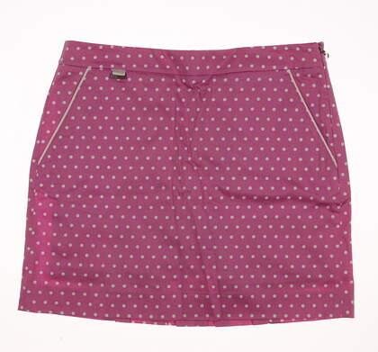 New Womens Ralph Lauren Polo Golf Polka Dot Skort Size 6 Pink / White MSRP $145