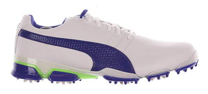 New Mens Golf Shoes Puma Titantour Ignite Medium 9.5 White/Blue MSRP $160 188656-04