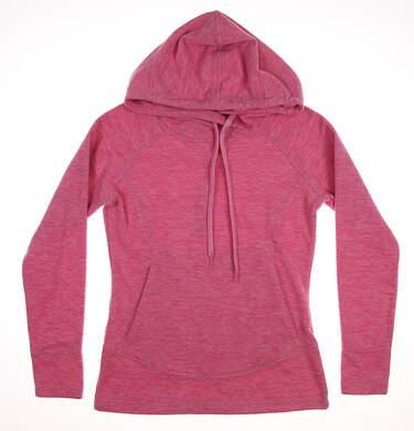 New Womens Straight Down Golf Sweatshirt Small S Pink MSRP $100 W60257