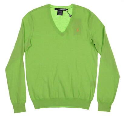 New Womens Ralph Lauren Golf Solid Cotton / Cashmere Blend Sweater Small S Green MSRP $145 0162019