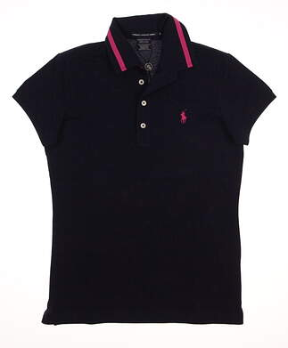 New Womens Ralph Lauren Golf Tailored Golf Fit Polo Small S Navy Blue MSRP $90 0476373
