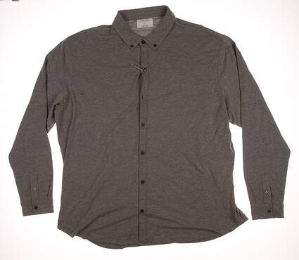 New Mens LinkSoul Golf Button Up XX-Large XXL Gray MSRP $95 LS208