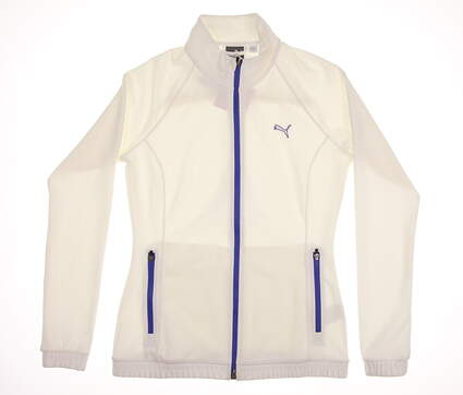 New Womens Puma Golf Track Jacket Small S White MSRP $70 571160-04