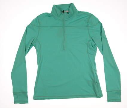 New Womens Puma Golf 1/4 Zip Pullover Medium M Mint Leaf MSRP $65 570544-03